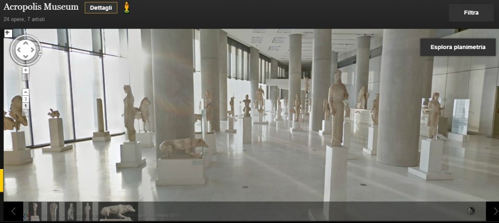 Museo dell'Acropoli ad Atene, visto da Google Art Project